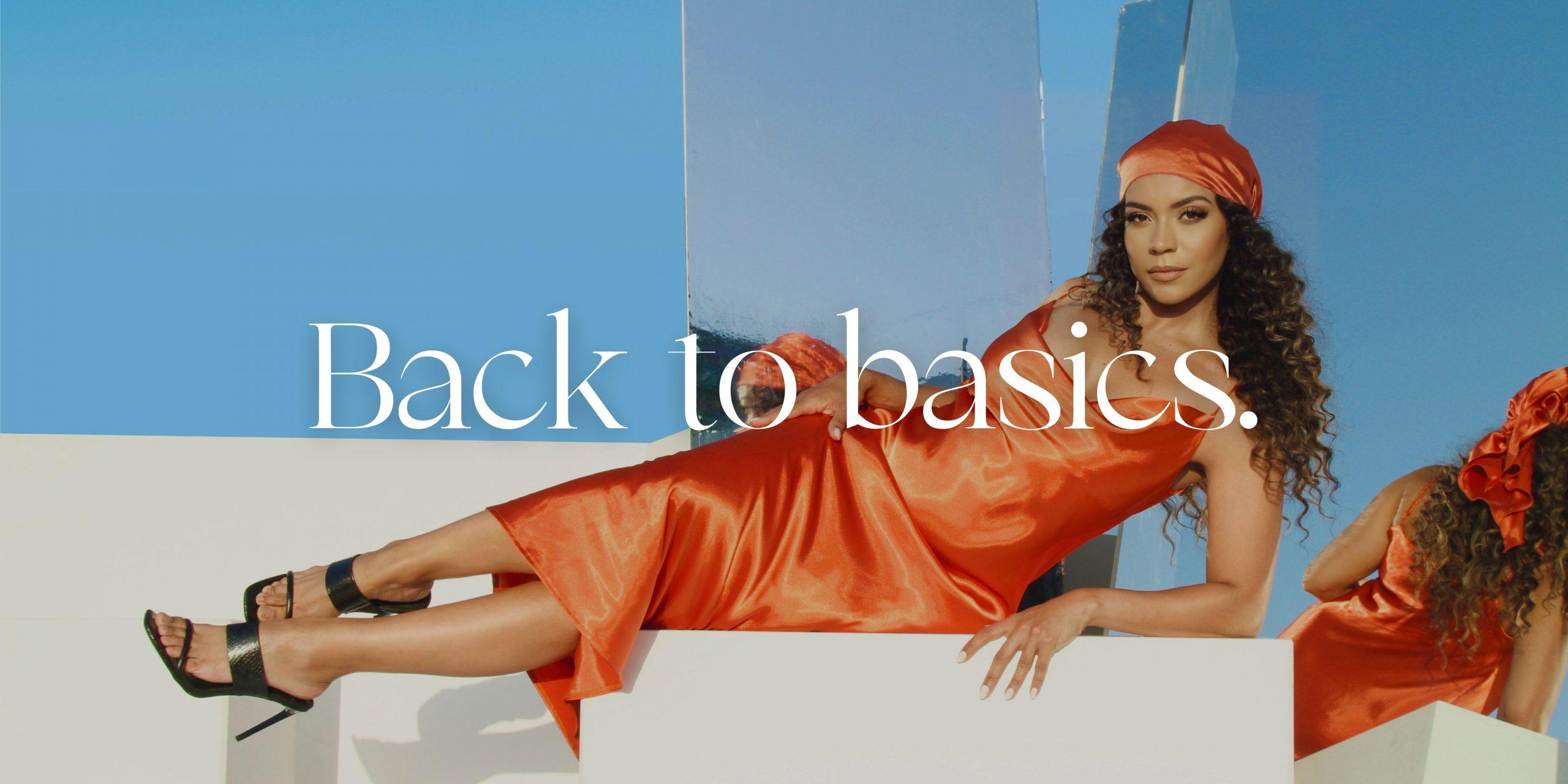 Take it back to basics with satin slip dresses